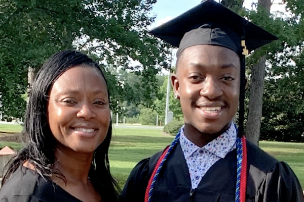 First Generation College Student Day Zack Bryant and mom